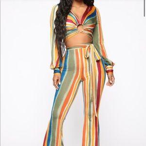 Colorful Striped 2pc Set